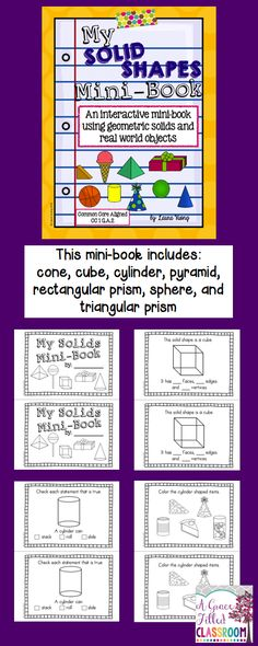 What a fun way to learn about solids shapes. Your students will love this interactive mini-book.