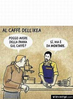 Al bar dell'Ikea. Funny Things, Funny Pictures, Lol, Smile, Comics, Memes, Humor, Fanny Pics, Funny Stuff