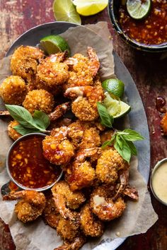 Oven Fried Coconut Shrimp with Thai Pineapple Chili Sauce   halfbakedhavest.com