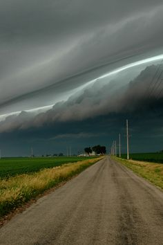 storm on road