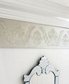 Paintable wallpaper boarder...this solves the lack of