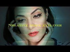 Negative Space Eyeliner - YouTube