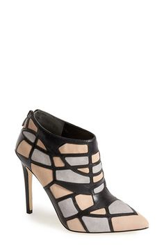 Via Spiga 'Franchesca' Pointy Toe Bootie (Women) available at #Nordstrom in metallic