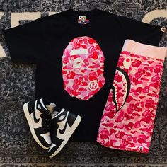 Dope Outfits For Guys, Swag Outfits Men, Tomboy Outfits, Cute Casual Outfits, Summer Outfits, Hip Hop Fashion, Mens Fashion, Bape Outfits, Jordan 1 Black