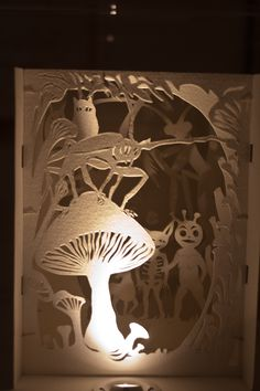 More stunning work from Andrea Deszo - combining paper and light.