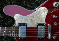 The Paisley Guitar pickguard, by artist Louis Farkovitz