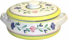 Caleca Girasole Covered Casserole Dish by Caleca. $43.47. Dishwasher safe; microwavable. Chip-resistant. All natural majolica/ceramic components individually hand-painted with non-toxic glazes and colors. Includes one art; 311 covered casserole dish. In the Caleca pattern Girasole the colors of the sun and of nature interpret a more intense tone of the Caleca ceramics; Ideal for an impressive presentation for a table dressed in cheerfulness. In the Caleca pattern Girasole the ...