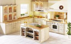 Traditional kitchen design with ergonomic layout, good Feng Shui placement