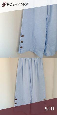 Wide Leg Linen Pants, White Lace, Elastic Waist, Pants For Women, Powder, Legs, Detail, Button, Spring