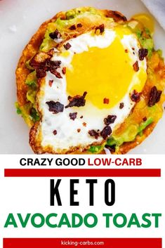 Keto Avocado Toast made with a chaffle is sheer bliss! With creamy avocado, cheddar cheese, fried egg, and crispy bacon it is the perfect breakfast. Keto Avocado, Avocado Recipes, Avocado Toast, Low Carb Breakfast, Perfect Breakfast, Breakfast Recipes, Breakfast Sandwiches, Low Carb Keto, Low Carb Recipes