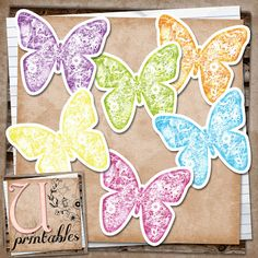 U printables by RebeccaB: FREE Print/Print and Cut - Butterflies