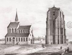 De Oldehove uit de 16e eeuw is een beeldbepalend gebouw voor Leeuwarden, maar is met zijn 40 meter veel kleiner dan beoogd. Het was de bedoeling dat de Oldehove meer dan 100 meter hoog zou worden en daarmee hoger dan de Martinitoren in Groningen. Toen was er al rivaliteit tussen Groningers en Friezen… Op de afbeelding hiernaast zie je de Oldehove met de daarnaast gelegen Sint Vituskerk rond 1550.