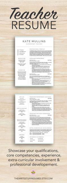 Professionally designed teacher resume templates for Mac & PC ...