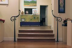 Simple wrought iron railing for The Kentucky Guild of Artists & Craftsmen, by Matthew & Karine Maynard.