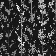 BATHROOM WALLPAPER!????? Graham & Brown Berries Wallpaper Black / White / Grey