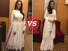 There's something about traditional outfits that make our Bollywood fashionistas stand out every single time. At a recent charitable fashion show, actresses Aditi Rao Hydari and Dia Mirza were spotted in all-white Indian outfits, and we must say they were looking beautiful. While both of them made a statement, we couldn't help but decode their looks for you.
