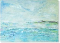 Ocean painting Abstract landscape Sea painting Waves by AnnaKisArt