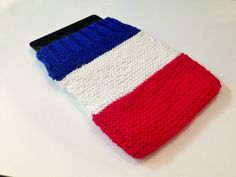 Knitted iPad Sleeve, iPad Sleeve, iPad Air Sleeve, iPad Cover, iPad Air Cover, Red White And Blue. Independence Day, 4th of July, Patriotic on Etsy, $15.00