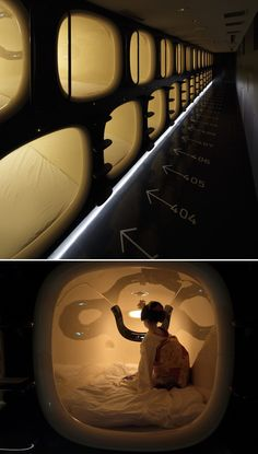 The Stylish 9h Capsule Hotel which features tiny pods just large enough for 1 person to sleep in. Would you try?