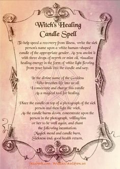 Witch's Healing Candle Spell….(Printable Spell Pages) – Witches Of The Craft®You can find Healing spells and more.
