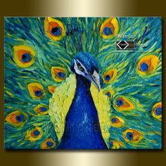 Peacock in Art Original Painting by Willson Lau