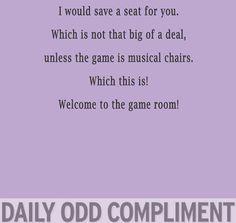 welcome to the game room! hahaha