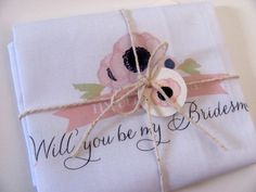 Will You Be My Bridesmaid Printed by ThePolkaDottedBee on Etsy, $12.00