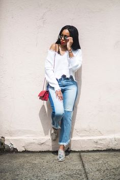 Two toned denim is a fashion craze that's always in and out of style. Right now it's so in for me, because I'm really feeling my new ...