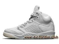 Homme Air Jordan 5 Retro Pure Platinum 881432-003 Blance Officiel Prix Jordan