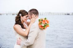 bride and groom in morehead city north carolina