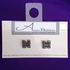 Licensed Pewter Post Nebraska Huskers Earrings by AnnPedenJewelry, $8.99