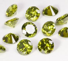 2-mm to 6-mm AAA quality Cubic Zirconia Olive green by artstudio88