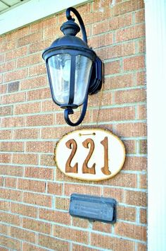 easy diy house numbers, crafts, how to