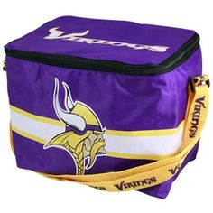 Great way to keep your food fresh in the car with this Vikings Insulated Lunch Bag.