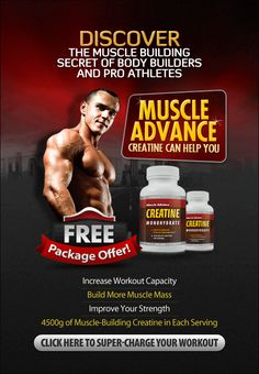 Click Here: https://beautyhealth4menwomen.com/Creatine_Muscle_Builder.php | Professional athletes and bodybuilders turn to creatine supplements when they want to get the most out of their workout. They use creatine supplements for their ability to help support building of muscle tissue and increasing energy during workouts... For more information: https://beautyhealth4menwomen.com/Creatine_Muscle_Builder.php