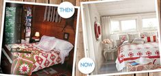 How to decorate with red quilts in 1987 vs now!