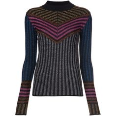 Dodo Bar Or striped jumper ($795) ❤ liked on Polyvore featuring tops, sweaters, multicolour, colorful striped sweater, multi colored sweater, merino sweater, stripe top and stripe sweater