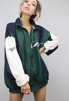 Vintage+90s+Reebok+Windbreaker+Jacket Sport Fashion, Womens Fashion, Style Fashion, Reebok, Streetwear, Asos, Urban Street Style, Adidas, Windbreaker Jacket