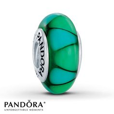 Pandora Charm  Green Glass Sterling Silver - Reminds me of the Northern Lights. :)