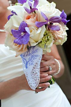 Modern Bridal Bouquets Wedding Flowers In Kansas City Mo Done Shades Of Purple Lavender