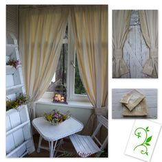Oryginal natural ecru beige   curtains. Decorated with cotton lace. Beautiful window decoration. Perfect for rustic, vintage, chabby chic and cottage  interior. Made of natural cotton blend fabric with linen and elana