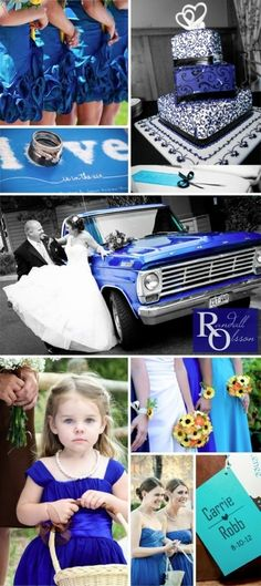 Always thought i wanted ome shade of pink but i love this Royal Blue Wedding