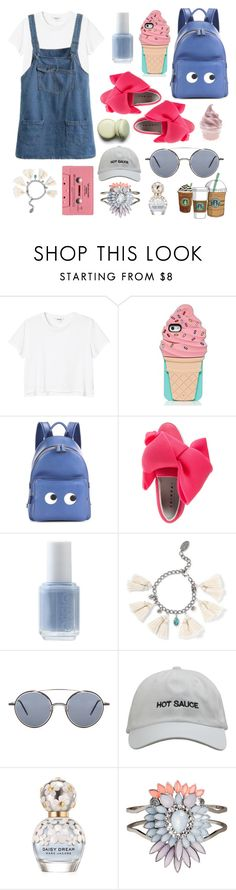 """colors of summer.."" by sari770 ❤ liked on Polyvore featuring Monki, Kate Spade, Anya Hindmarch, Joshua's, Essie, Chan Luu, Thom Browne, Cotton Candy, Marc Jacobs and H&M"