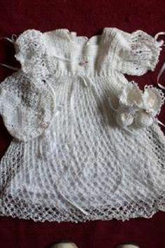 Free Crochet Christening Layette Patterns | FREE CROCHET PATTERN FOR CHRISTING GOWN | Crochet and Knitting ...