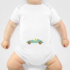 Car Kids mint Onesie by Friedas Glück - $20.00 Onesies, Mint, Car, Clothes, Fashion, Gifts, Outfits, Moda, Automobile