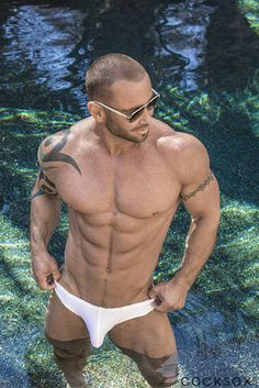 Swimwear from Australia.. with a bite! Check out our 'White Pointer' Briefs