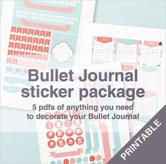 Every sticker you need for your bullet journal!   The circle icons can be easily cut with a 3/4 hole punch!  * THIS PURCHASE IS FOR A INSTANT DIGITAL