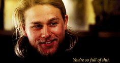 You can't get anything past this smart cookie. This beautiful, blonde Adonis of a cookie. | 31 Reasons Jax Teller Is Your Perfect Man