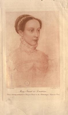 Mary Stewart -drawing Francois Clouet-BnF-Book: The girlhood of Mary queen of Scots from her la. Mary Queen Of Scotland, Mary Queen Of Scots, Queen Mary, Tudor History, European History, Women In History, House Of Stuart, Tudor Dynasty, Gouache