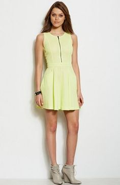 Mesh Fit & Flare Dress - Summer Essentials - Womens - Armani Exchange